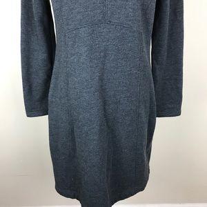 Prana Dresses - Prana Grey Cable Knit Hoodie Sweater Dress Medium